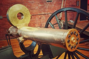 1883 Canon-Mounted Gatling Gun (fully operational)