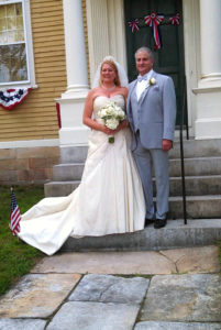 Wedding at the Varnum House Museum.