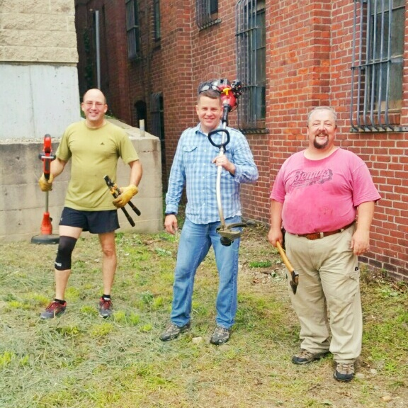 Volunteers at the Varnum Memorial Armory