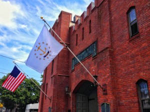 New Flags at the Varnum Memorial Armory Museum, East Greenwich, RI.
