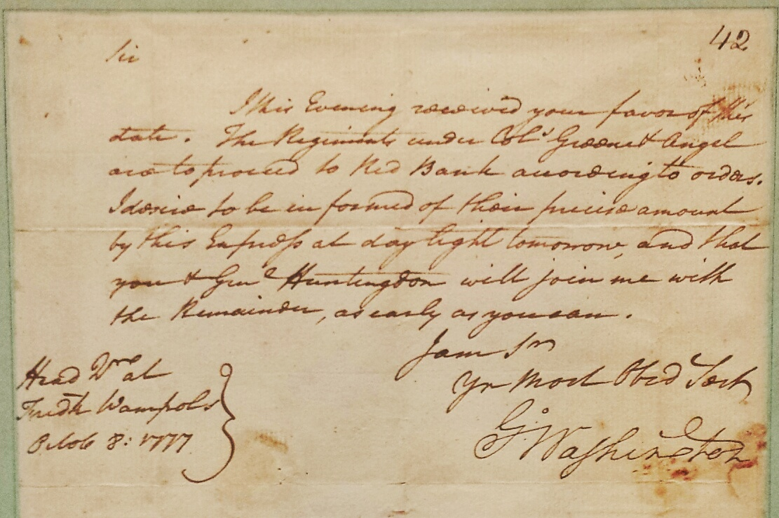 Featured Exhibit Transcript Of George Washington S Letter To Brigadier General James Mitchell