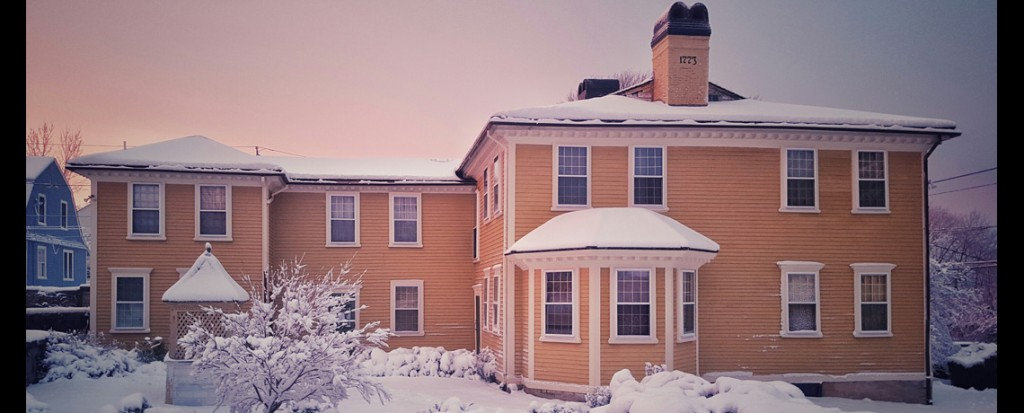 Snow Scenery Around the Varnum House Museum
