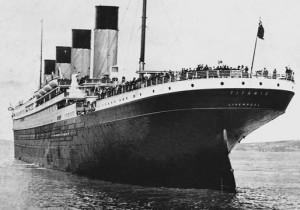 RMS Titanic was a British passenger liner that sank in the North Atlantic Ocean in 1912, after colliding with an iceberg during her maiden voyage.