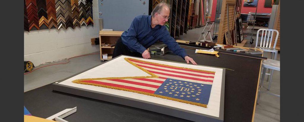 [FEATURED EXHIBIT]  Civil War Guidon Flag gets Professional Framing