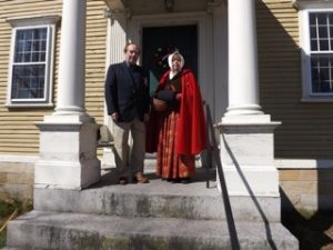Bill and Barbara Weaver at the Varnum House's main entrance.