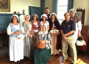Varnum House Docents prepared for a school tour.