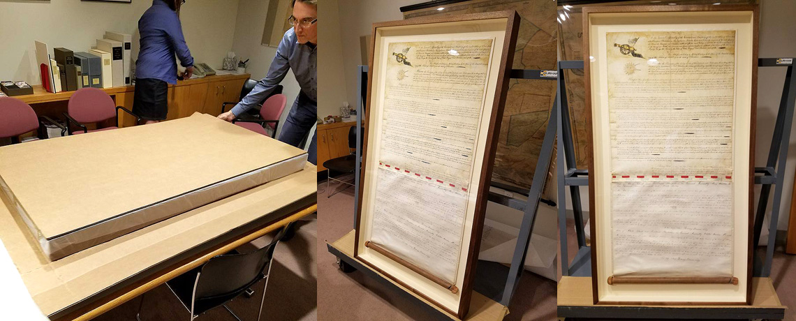 [FEATURED EXHIBIT] Original 1775 Charter for the RI United Train of Artillery