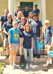 Roger Williams University volunteers at the Varnum House Museum.