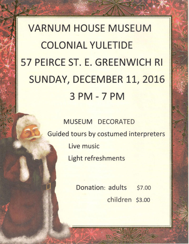 Colonial Yuletide at the Varnum House Museum