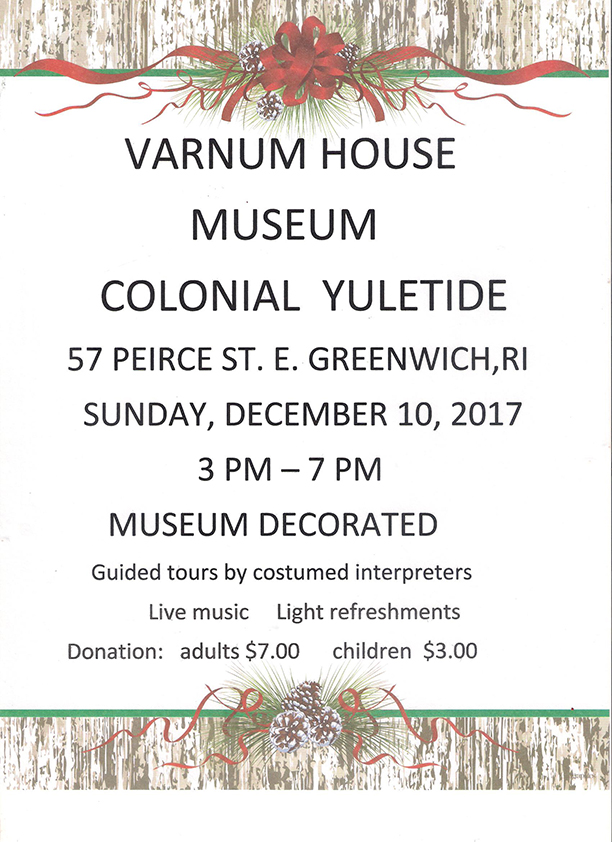 Varnum House Colonial Yuletide on Sunday, December 10, 2017.