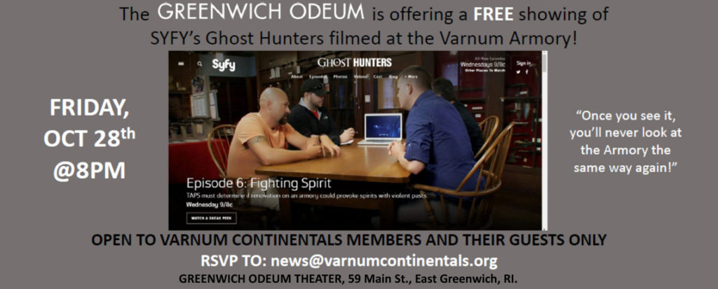 [MEMBER BENEFIT] Greenwich Odeum Offers FREE Showing of SYFY's Ghosthunters Filmed at the Varnum Memorial Armory!
