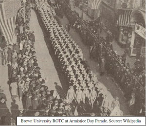Brown University ROTC at the Armistice Day Parade