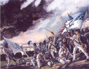 1st Rhode Island Regiment at the Battle of Bloody Run Brook, Aug. 28, 1778