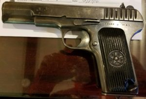 "Soviet-made Model TT-33 ""Tokarev"" pistol"