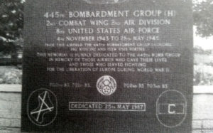 Memorial to the 445th Bombardment Group.