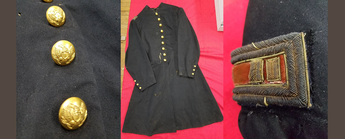[FEATURED EXHIBIT] Rhode Island Civil War Artillery Officer's Frock Coat