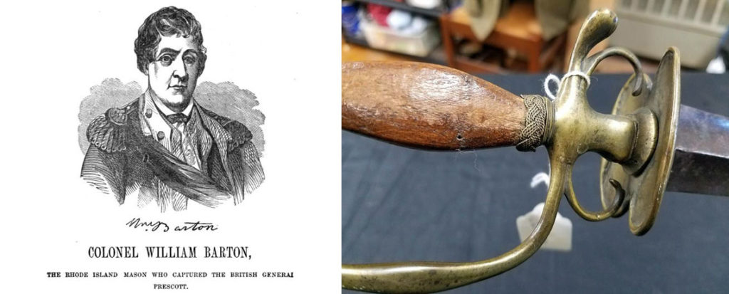 [FEATURED EXHIBIT] 1777 Sword Possibly Captured with British General Prescott