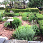 Colonial herb garden at the Varnum House Museum.