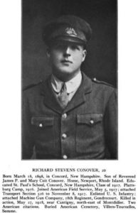 Richard S. Conover, World War I veteran from East Greenwich, RI.