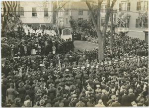 World War I Memorial monument dedication ceremony in East Greenwich, RI.