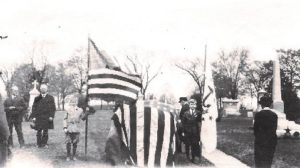 May 4, 1918 ceremony for Israel Angell's new grave site