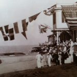 Hotel decorated for World War I Block Island parade