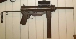 "M3A1 ""grease gun"" on display."