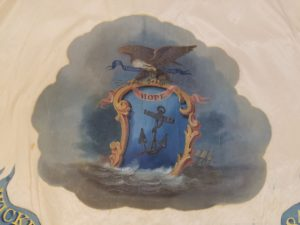 1843 Silk Flag from the Wickford Volunteers