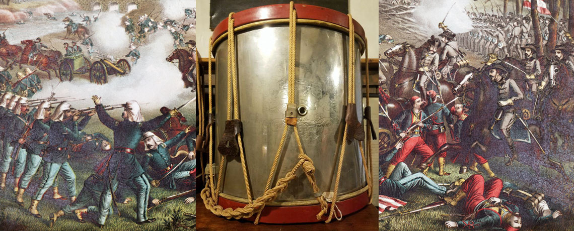 [FEATURED EXHIBIT] American Civil War Drum from the American Brass Band of Rhode Island