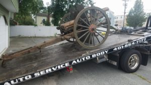 1903 field gun en route to the Benefit Street State Arsenal