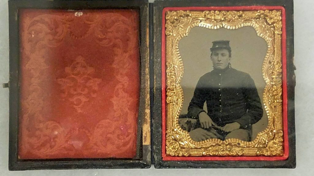 [FEATURED EXHIBIT] Daguerreotype of Private Cyrus H. Brackett, 1st Rhode Island Cavalry