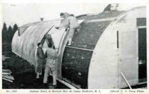 Building Quonset huts at Davisville