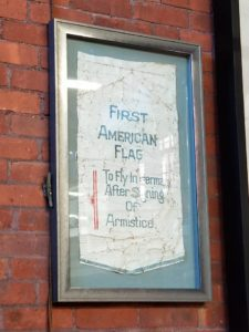 First US Flag to enter Germany after World War I Armistice