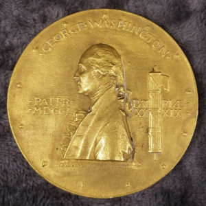 1889 George Washington centennial commemorative medal