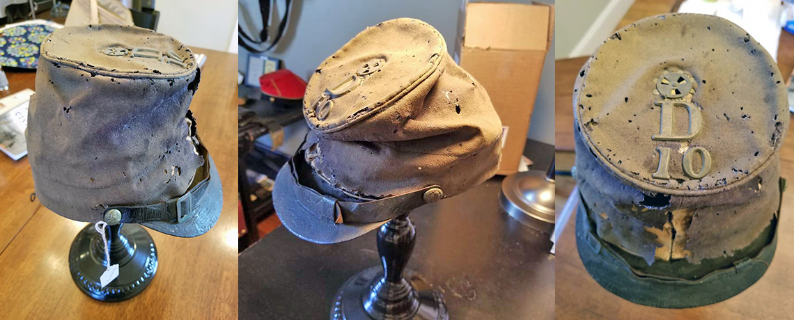 [FEATURED EXHIBIT] Before and After: U.S. Civil War Forage Cap