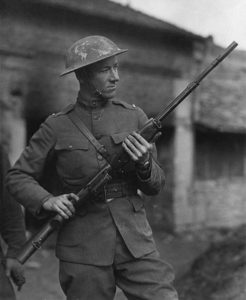 Val Browning with an M1918 BAR