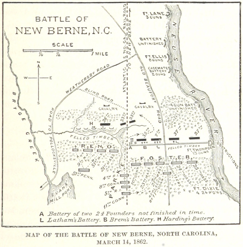 Map of the Battle of New Bern