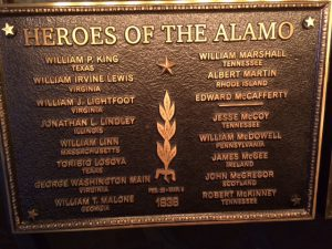 "Corrected ""Heroes of the Alamo"" sign"