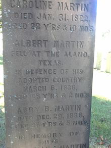 Gravestone of Albert Martin