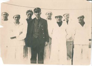 Lifeboat station captain, Robert Pierce, and his crew.