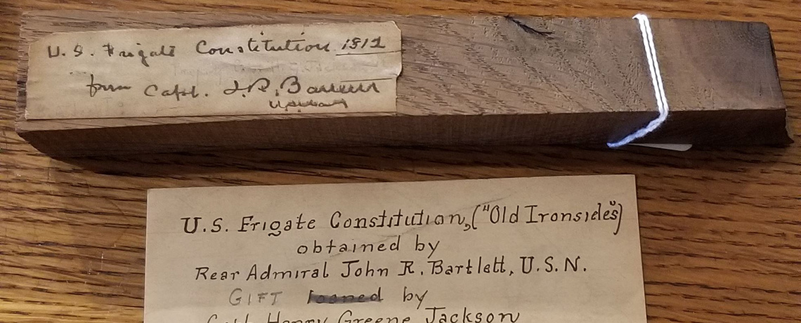 [FEATURED EXHIBIT] Piece of USS Constitution (Old Ironsides)