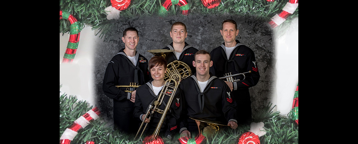 Navy Band Brass Quintet free concert at the Varnum Armory on Dec. 2