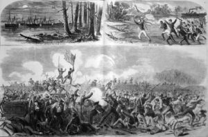 Battle of New Bern in Harper's Weekly (5 April 1862)