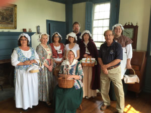 Varnum House Museum docents in period costume