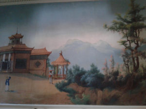 Hand-painted wallpaper from China (circa 1850s)