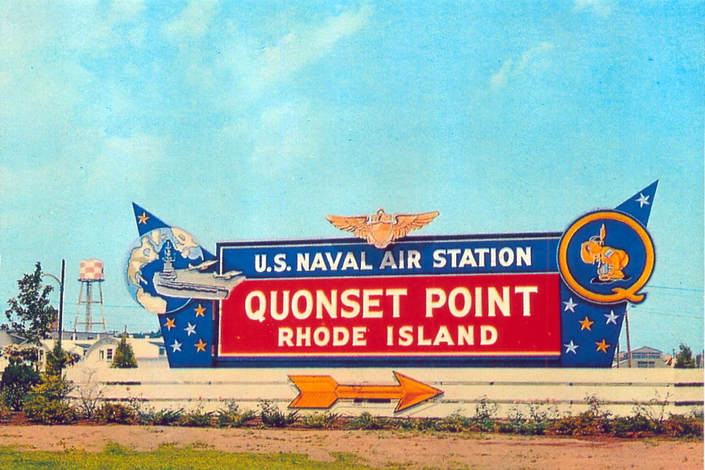 Entrance to NAS Quonset.