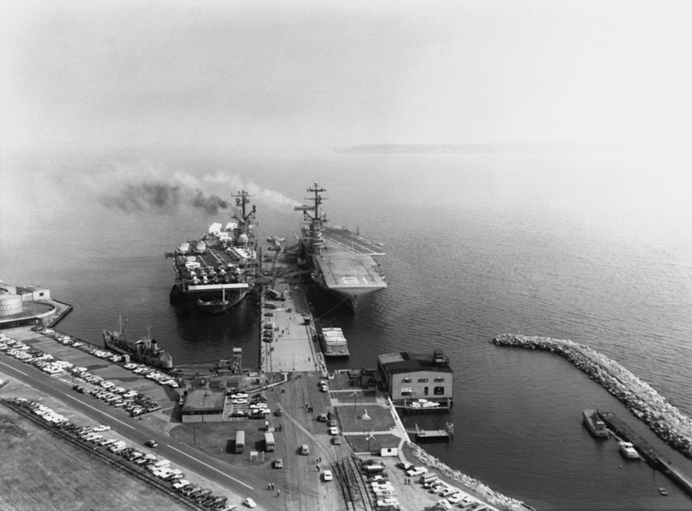 USS Wasp and USS Intrepid at Quonset Point