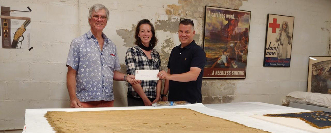 Rhode Island Society of Colonial Wars Donates $9,000 to Varnum Armory