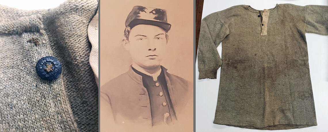 [FEATURED EXHIBIT] George Byron Bennett's Wool Undershirt from the American Civil War