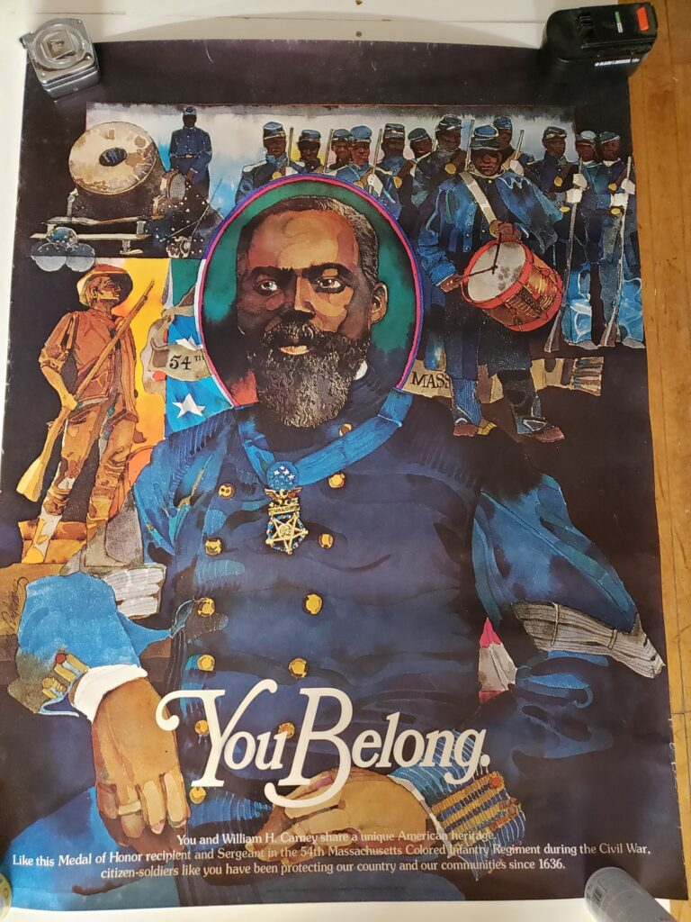 1975 National Guard recruitment poster featuring William Harvey Carney